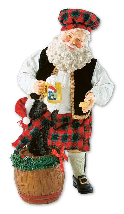 unique santa figurines 9246 great scots santa figurine with alpenlandstore