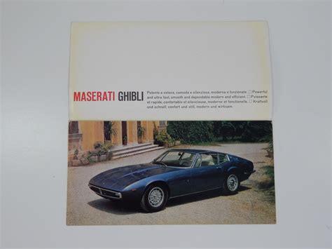 maserati brochure maserati ghibli sales brochure classic parts