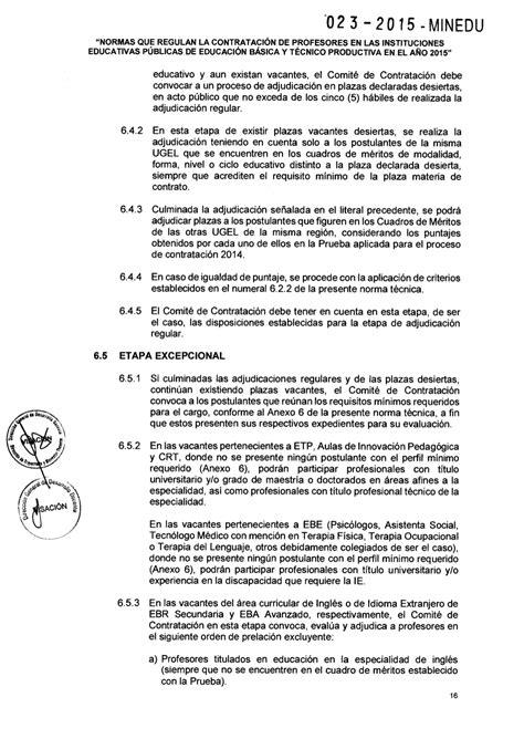 resolucion ministerial n199 2015 minedu rm 23 2015 minedu contrataci 211 n docente