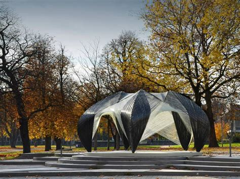 Pavillon Uni Stuttgart by Icd Itke Research Pavilion 2012 Institute For