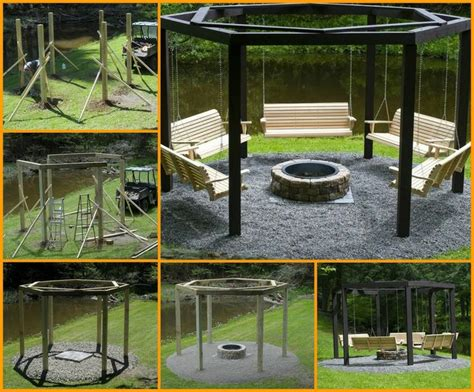swings around cfire swings around a fire pit diy do it yourself pinterest