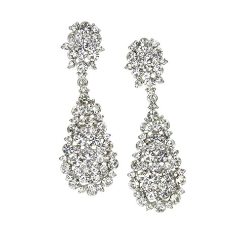 swarovski drop tonia drop earrings in swarovski bridal
