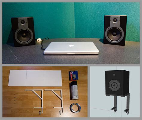 Space Saving Studio Monitors Speakers Stands Studio Monitor Desk