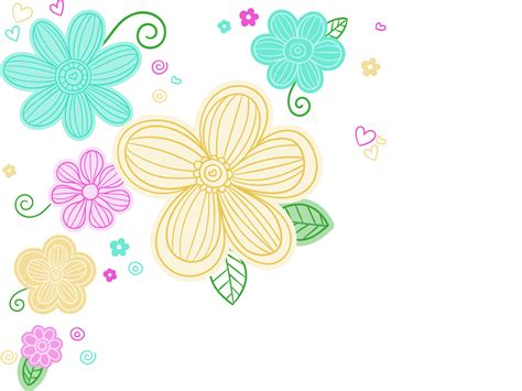 colorful flowers backgrounds presnetation ppt