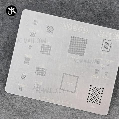 3d Bga Cetakan Iphone A8 mijing a8 3d ic repair bga tin plate soldering rework stencil steel net for iphone 6 6 plus