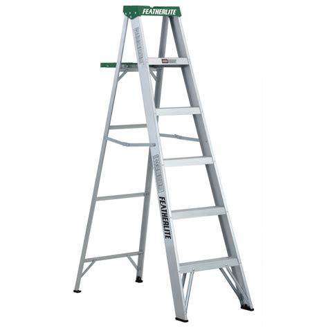 6 Ft Featherlite 2406 Aluminum Step Ladder Type Ii 225