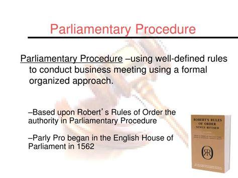 Ppt Parliamentary Procedure Powerpoint Presentation Id 4258106