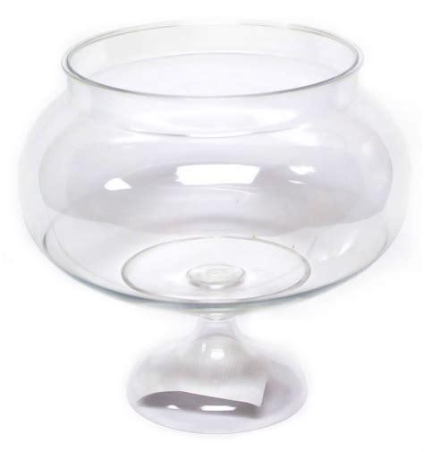 clear round plastic pedestal jar short