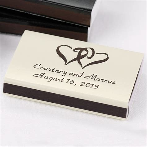 Wedding Box Matches by Personalized Sliding Box Matches Wedding Favors Set Of 50