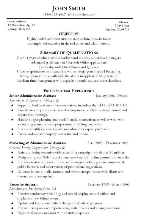 administrative assistant resume summary exles administrative assistant resume sle writing resume