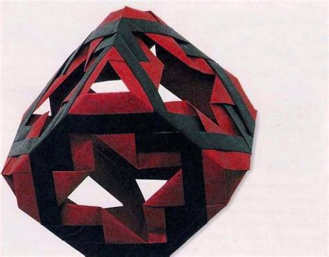 Origami Up Cube - modular origami cube
