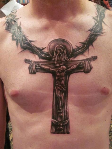 pictures of tattoos for men chest 46 cross tattoos ideas for and inspirationseek