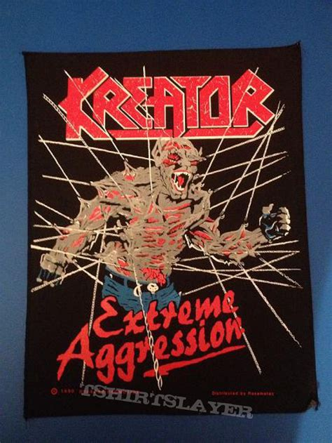 Kreator Aggresion kreator aggression backpatch tshirtslayer