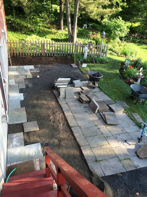 Patio Sting by Landscape Design Part 3 Bluestone Patio Before And