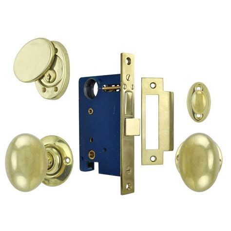 Front Door Knob Set by Classic Solid Brass Plain Exterior Entry Door Knob Lock