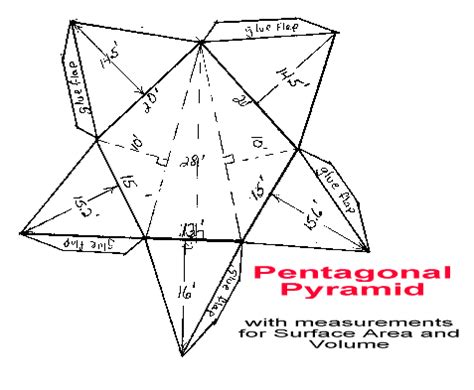 How To Make A Pentagonal Pyramid Out Of Paper - t s a and volume for the pentagonal pyramid