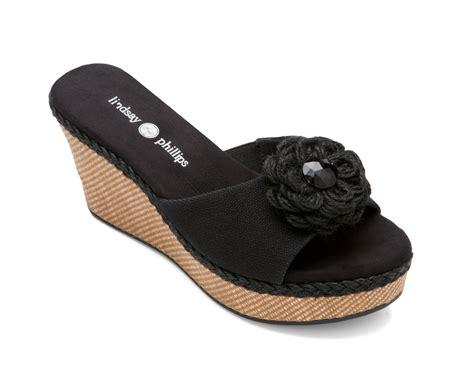 lindsay phillips slippers lindsay phillips sz 8 5m wedge jute trim sandals