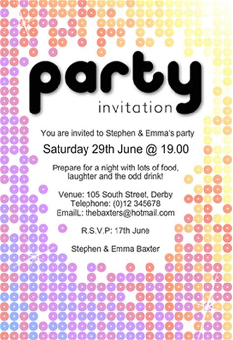 9 party invitation templates word excel pdf formats
