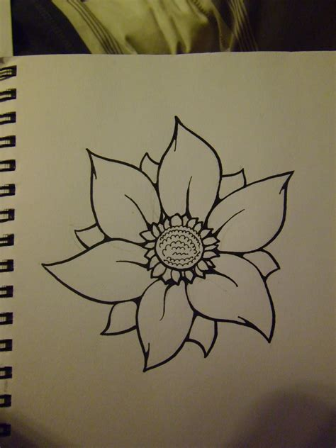 flower easy step by stepdaryl hobson artwork how to draw a flower step