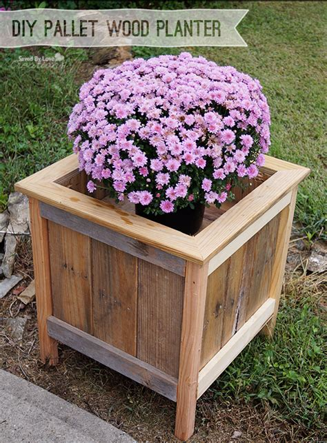 Pallet Wood Planter by Wood Pallet Planter Diy