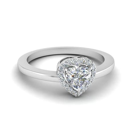 purchase our 18k white gold halo engagement rings at