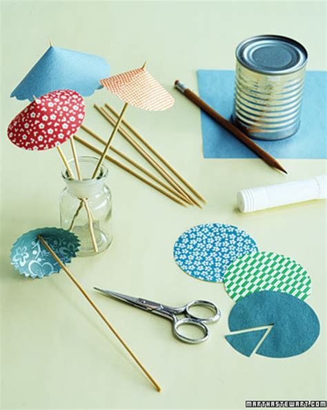 How To Make Small Umbrella With Paper - 10 ideias para fazer mini sombrinhas para drinks e