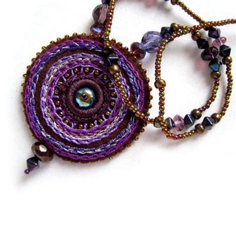 Kalung Simple Handmade Import Purple 10 Images About Crochet Jewellery Patterns Uncinetto