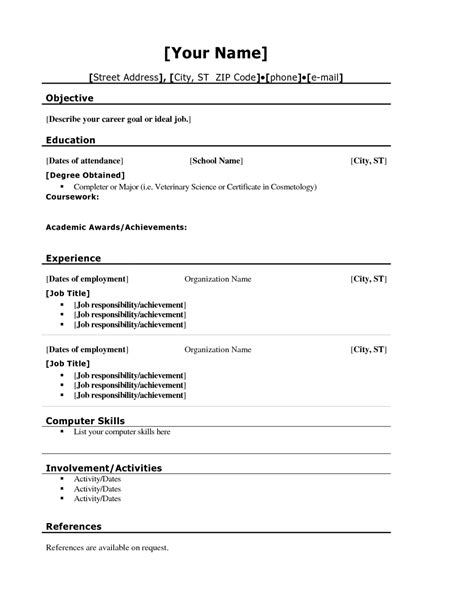 Sample Resume Format With Ojt by Sample Resume For High Student First Job Resume