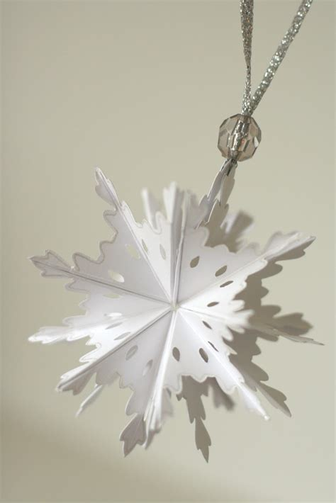 notable nest foldable snowflake ornament