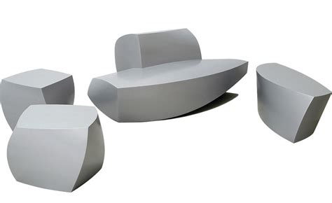 Plastic Outdoor Dining Chairs Frank Gehry 4 Piece Collection Hivemodern Com