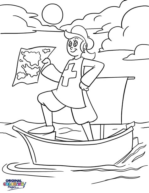 Christopher Columbus Coloring Pages Printable by Christopher Columbus Coloring Page
