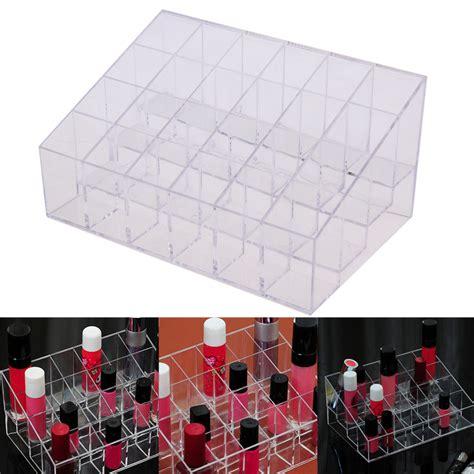 aliexpress buy acrylic makeup organizer aliexpress buy sale 24 lattice lipstick acrylic jewelry makeup organizer box