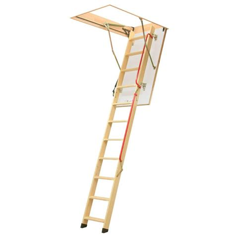 Timber Loft Ladders With Handrails 3 section timber folding loft ladder piston assisted