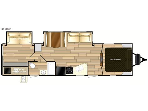 mpg travel trailer floor plans mpg 3100bh travel trailer