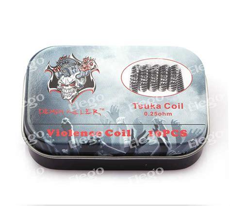 killer prebuilt wire tsuka coil 0 25ohm 10pcs