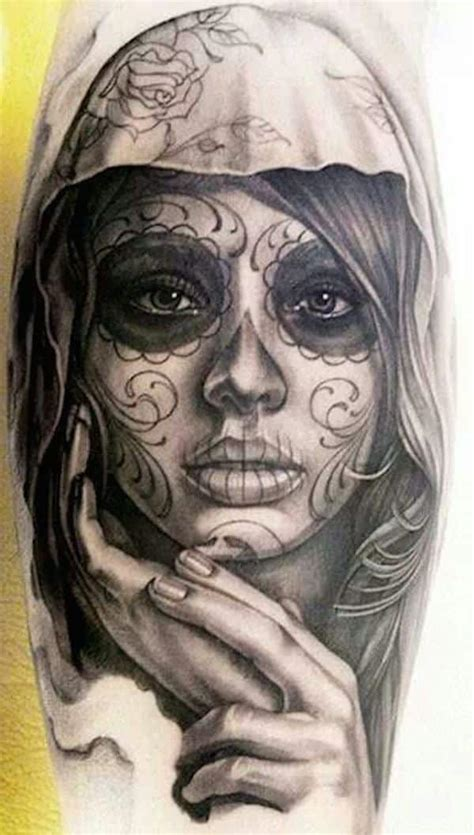 day of the dead face tattoo 44 day of the dead tattoos gallery