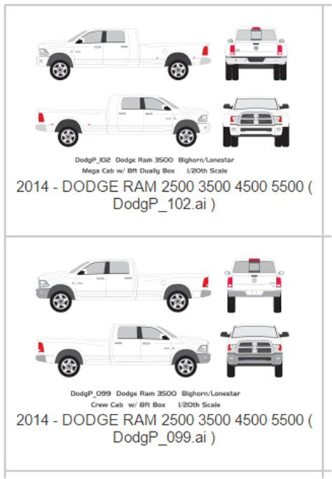 Wholesale Vehicle Wrap Printing Blog Dodge Ram 3500 Vehicle Wrap Templates Dodge Ram Wrap Template