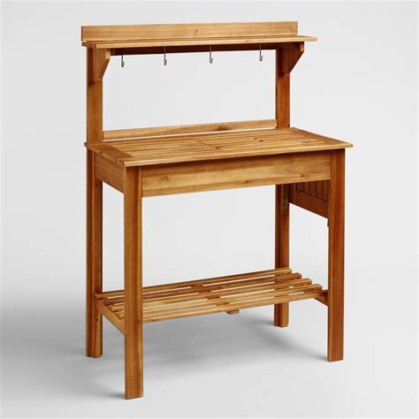 potting bench sale natural wood potting bench world market