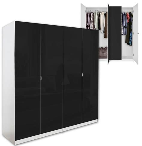 Black Wardrobe Closet alta 4 door wardrobe closet basic package free standing