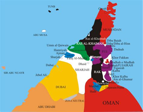 middle east map united arab emirates map of united arab emirates regions emirates