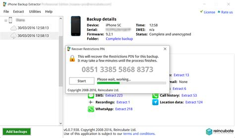 iphone restrictions recover ios 7 or 8 iphone restrictions passcode iphone backup extractor