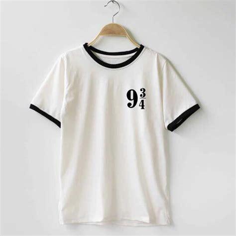 Kaos Harry Potter Harry Potter Platform 9 And 3 4 Graphics Lengan Panj platform 9 3 4 harry potter t shirt cotton o neck