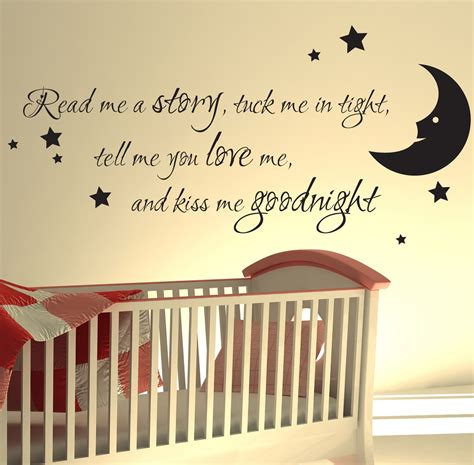 Nursery Wall Sticker Quotes nursery wall sticker read me a story kids art decals