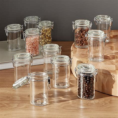 mini oval spice herb jars with cl set of 12 crate and