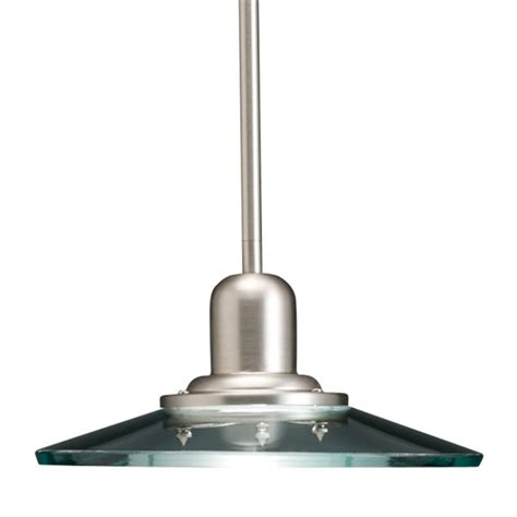 Brushed Nickel Glass Pendant Light Allen Roth Galileo 10 In W Brushed Nickel Mini Pendant