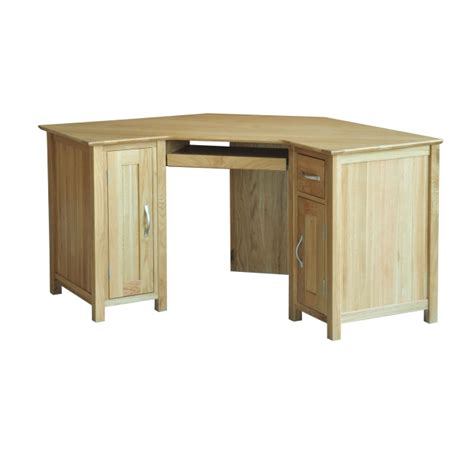 Solid Oak Corner Desk with Canberra Solid Oak Furniture Corner Office Pc Computer Desk Ebay