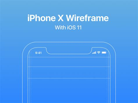 ios wireframe template iphone x wireframe with ios 11 guides by riomar mccartney dribbble dribbble