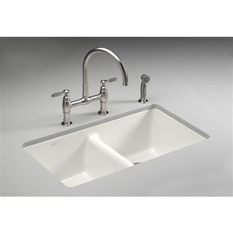 White Cast Iron Kitchen Sink
