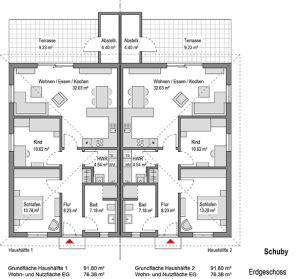 Grundriss Doppelhaus Ebenerdig by Grundrisse Thams H 228 User