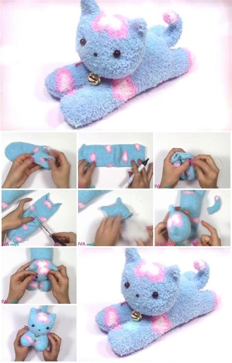 sock crafts how to make an easy sock cat usefuldiy